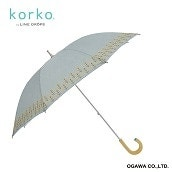 korko ショートスライド晴雨兼用日傘 菜の花刺繍