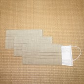 洗えるマスクカバー 同色3枚セット 白茶