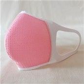 \速乾性・通気性に優れてます/;洗える3D立体マスクカバーネオプレーン1枚ピンクM