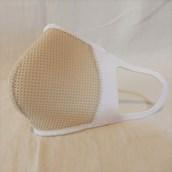 \速乾性・通気性に優れてます/洗える3D立体マスクカバーネオプレーン1枚ベージュS