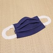 さらっとタイプ・洗えるマスクカバー2枚組 ネイビー