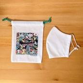 【エコバッグプレゼント対象商品】オーガニックコットン立体マスク付 オーガニック巾着袋