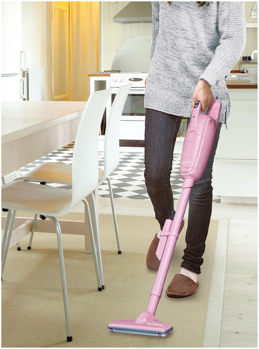 マキタコードレスハンディクリーナーパワフルモード搭載モデルピンク