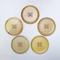 四季島 木製豆皿5枚セット