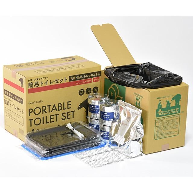 10年保管可能 簡易トイレ付トイレセット100回 送料込
