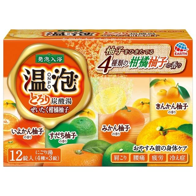 温泡 とろり炭酸湯 ぜいたく柑橘柚子 12錠