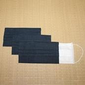 洗えるマスクカバー 同色3枚セット 鉄紺