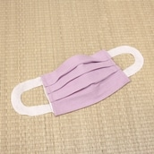さらっとタイプ・洗えるマスクカバー2枚組 薄紫