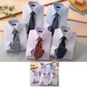 NEW銀座・丸の内のOL100人(R)が選んだ ワイシャツ&ネクタイ10点セット カラー系 L