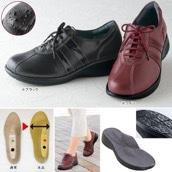 高井さんの靴 5E牛革軽量コンフォートシューズ ブラック 24