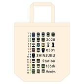 【ND】数量限定予約販売!!新宿駅135周年 第1弾! トートバック