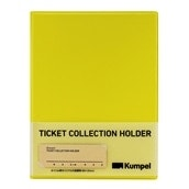 【kumpel】チケットコレクションホルダー(イエロー)