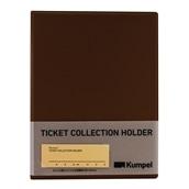 【kumpel】チケットコレクションホルダー(ブラウン)
