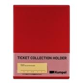 【kumpel】チケットコレクションホルダー(レッド)