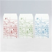 【kumpel】ポチ袋 路線図 ホワイト セット