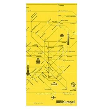 【kumpel】チケットケース 路線図 イエロー