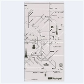 【kumpel】チケットケース 路線図 グレー