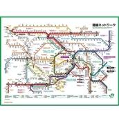 JR東日本東京近郊路線図レジャーシート2018