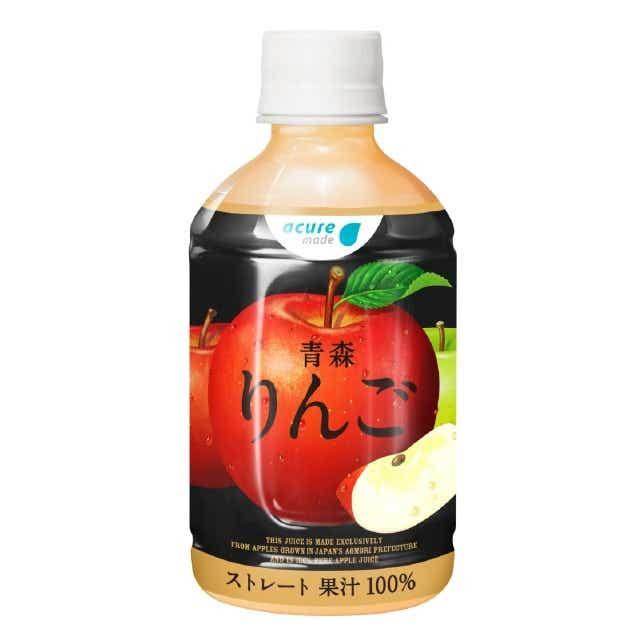 青森りんごストレート 280ml PET×24本入り