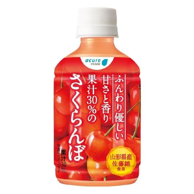 果汁30%のさくらんぼ 280ml PET×24本入り