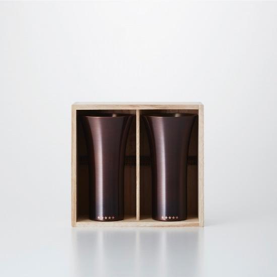 純銅製タンブラー 2個セット ブラウン