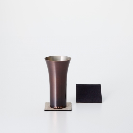純銅製タンブラー ブラウン