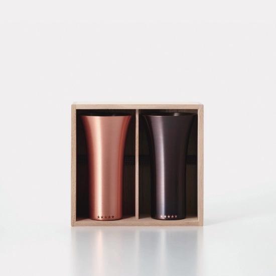 【数量限定】 純銅製タンブラー 2個セット マット・ブラウン
