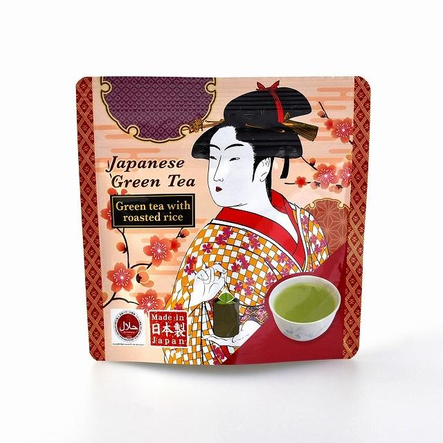 [福岡県]ハラール玄米茶10P  浮世絵<:V04634999028:>