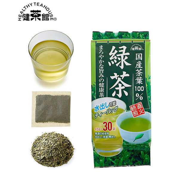 健茶館 国産茶葉 緑茶30p<:V01529999028:>