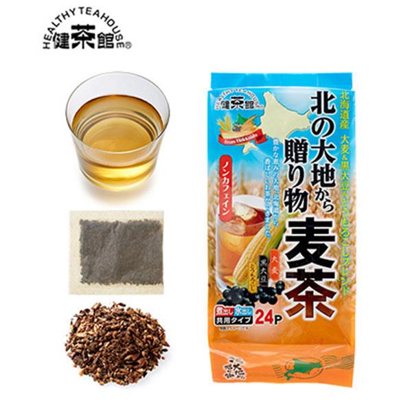 [北海道]健茶館 北の大地からの贈り物麦茶24p<:V01555999028:>