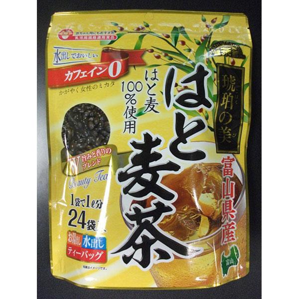 [富山県]健茶館 富山県産琥珀の美はとむぎ茶24p<お土産特集CP><:V01562999028:>