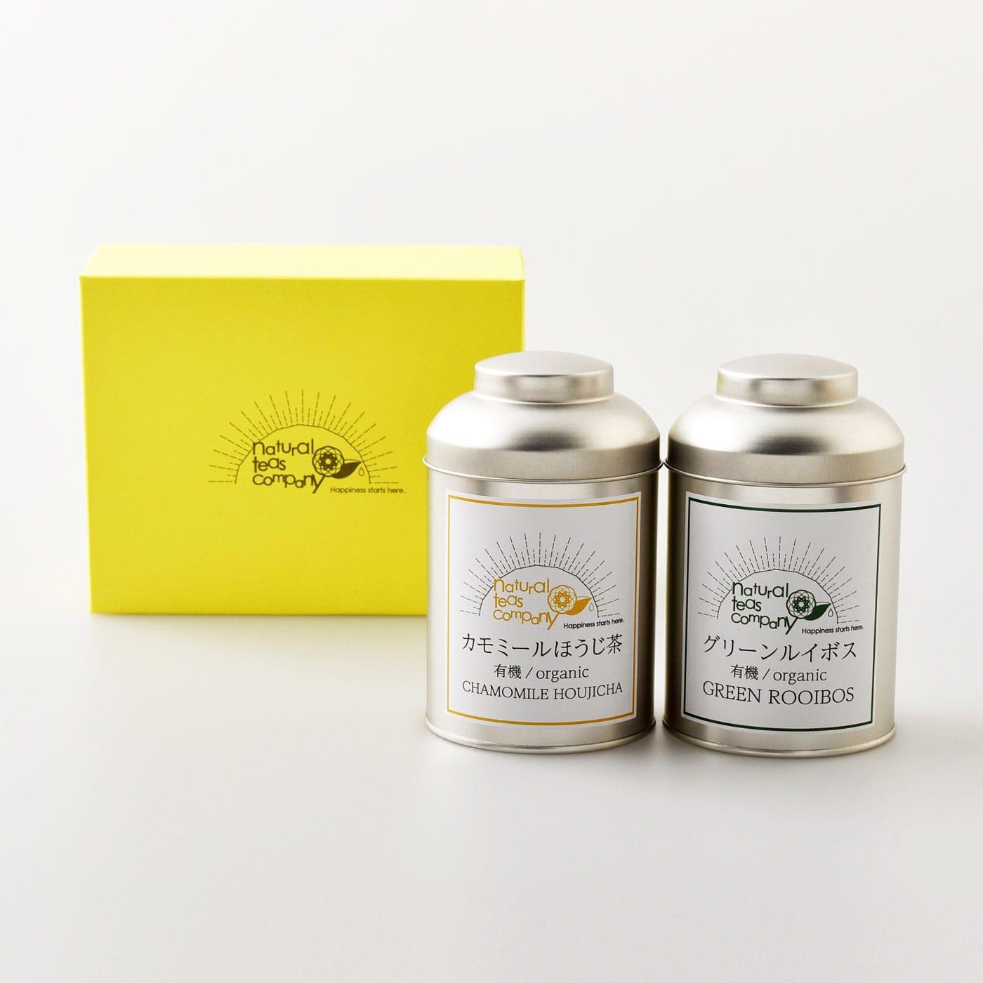【2020母の日】 [静岡県]NTCギフト2本セット(有機グリーンルイボス・有機カモミールほうじ茶)<:V04809999028:>