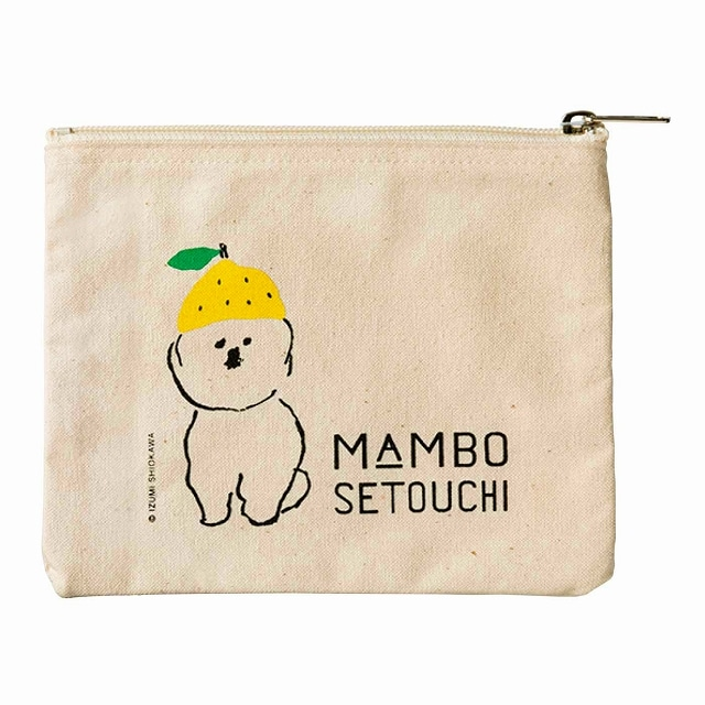 MAMBO SETOUCHI  帆布フラットポーチ<:V05586999028:>