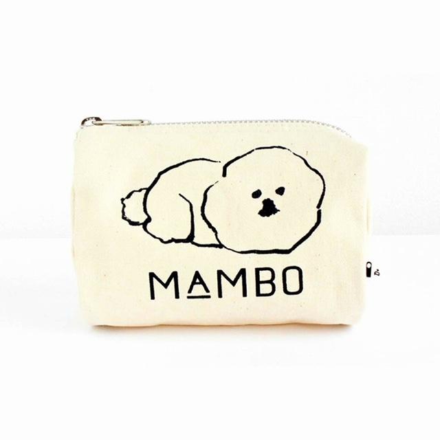 MAMBO ラウンドボックスポーチ Sサイズ 生成り<:V05998999028:>
