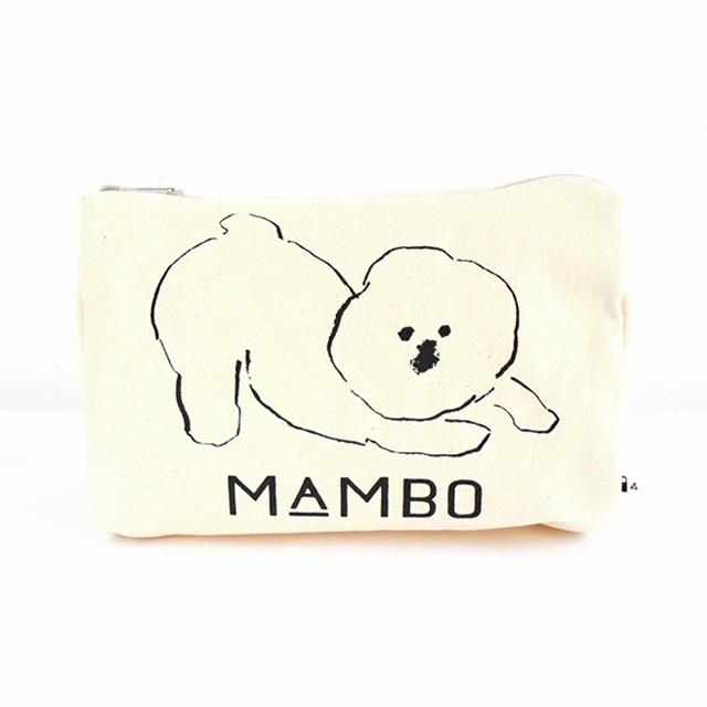 MAMBO ラウンドボックスポーチ Lサイズ 生成り<:V05999999028:>