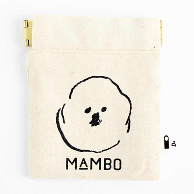 MAMBO フラットバネポーチ ミニ 生成り<:V06000999028:>
