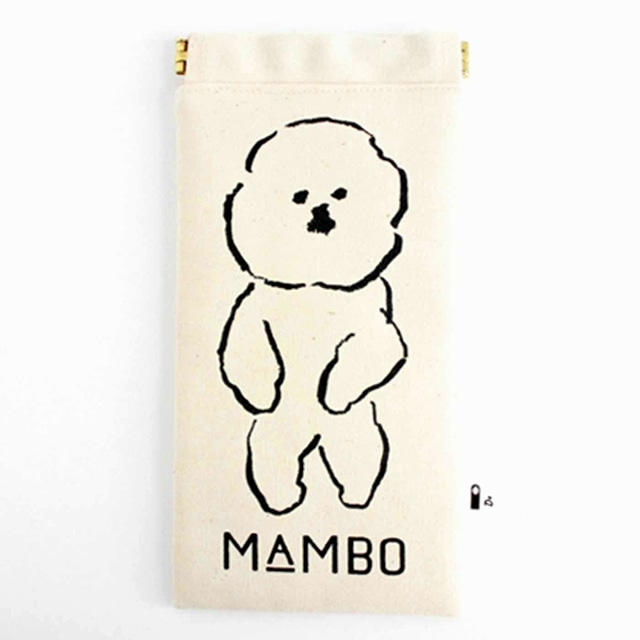 MAMBO フラットバネポーチ ロング 生成り<:V06001999028:>