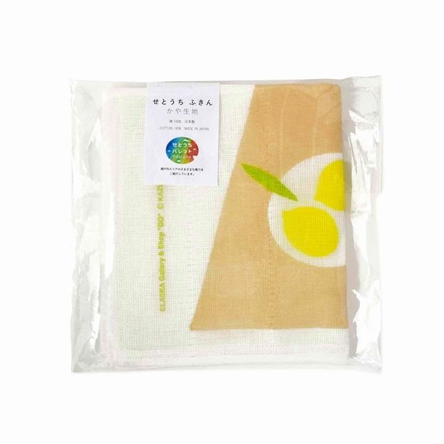 [JR西日本]かや生地ふきん Lemon on the table<:V06135999028:>