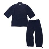 たてスラブ作務衣 No.1 濃紺 L