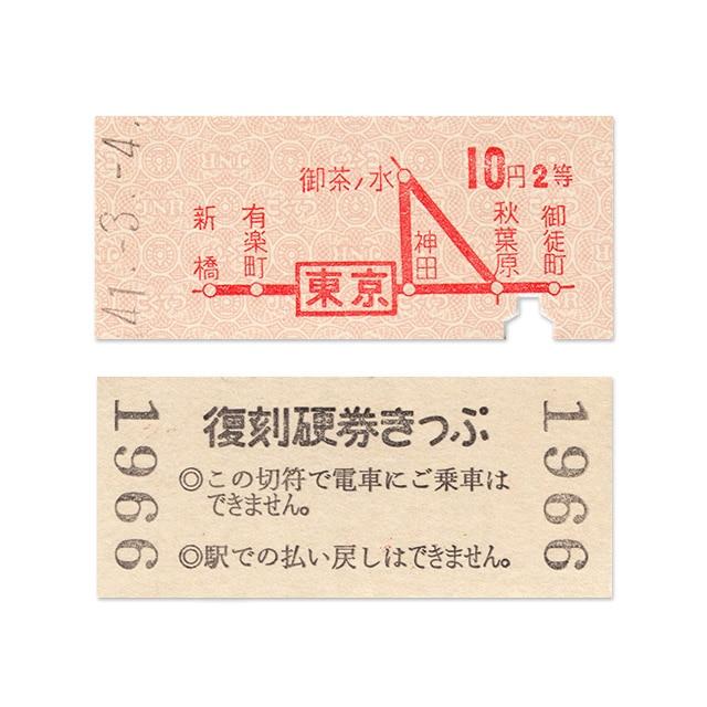 【硬券ハガキ】東京電環 今は 東京山手線内(硬券付き)山手線 東京