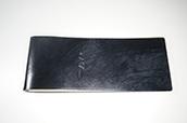 【ぬくもり刻印】補充券カバー0047(アンティークブラックレザー2.5ミリ厚 B級品 ネジ付き JNR刻印)限定品