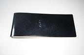【ぬくもり刻印】補充券カバー0049(アンティークブラックレザー2.5ミリ厚 ネジ付き JNR刻印)限定品