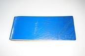 【ぬくもり刻印】補充券カバー0061(ブルーレザー2.5ミリ厚 ネジ付き (個性あり)JNR刻印)限定品