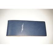 【ぬくもり刻印】補充券カバー0018(ブルーレザー2ミリ厚(個性あり)JNR箔押し風)限定品