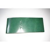 【ぬくもり刻印】補充券カバー0022(グリーンレザー3ミリ厚(個性あり) JNR刻印)限定品