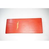 【ぬくもり刻印】補充券カバー0032(レッドレザー3ミリ厚(個性あり) JNR箔押し風)限定品