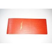 【ぬくもり刻印】補充券カバー0033(レッドレザー3ミリ厚(個性あり) JNR箔押し風)限定品