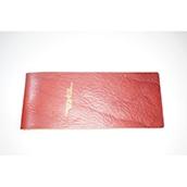 【ぬくもり刻印】補充券カバー0035(レッドブラウンレザー3ミリ厚(個性あり) JNR箔押し風)限定品