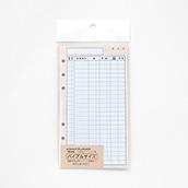 行路表システム手帳追加リフィル バイブルサイズ(国鉄地紋橙色)
