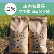 【産直】山形県鶴岡市産 庄内米(つや姫・白米)5Kg×2袋 (送料・税込)
